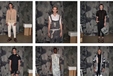 R. Swaider Spring/Summer 2018, presented at NYFWM Men's Day at Dune Studios.