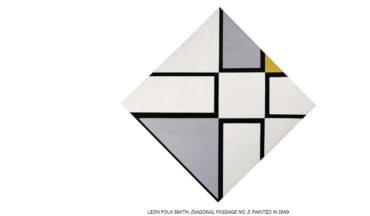 LEON POLK SMITH, DIAGONAL PASSAGE NO. 3, PAINTED IN 1949. at Sotheby's S 2 Gallery