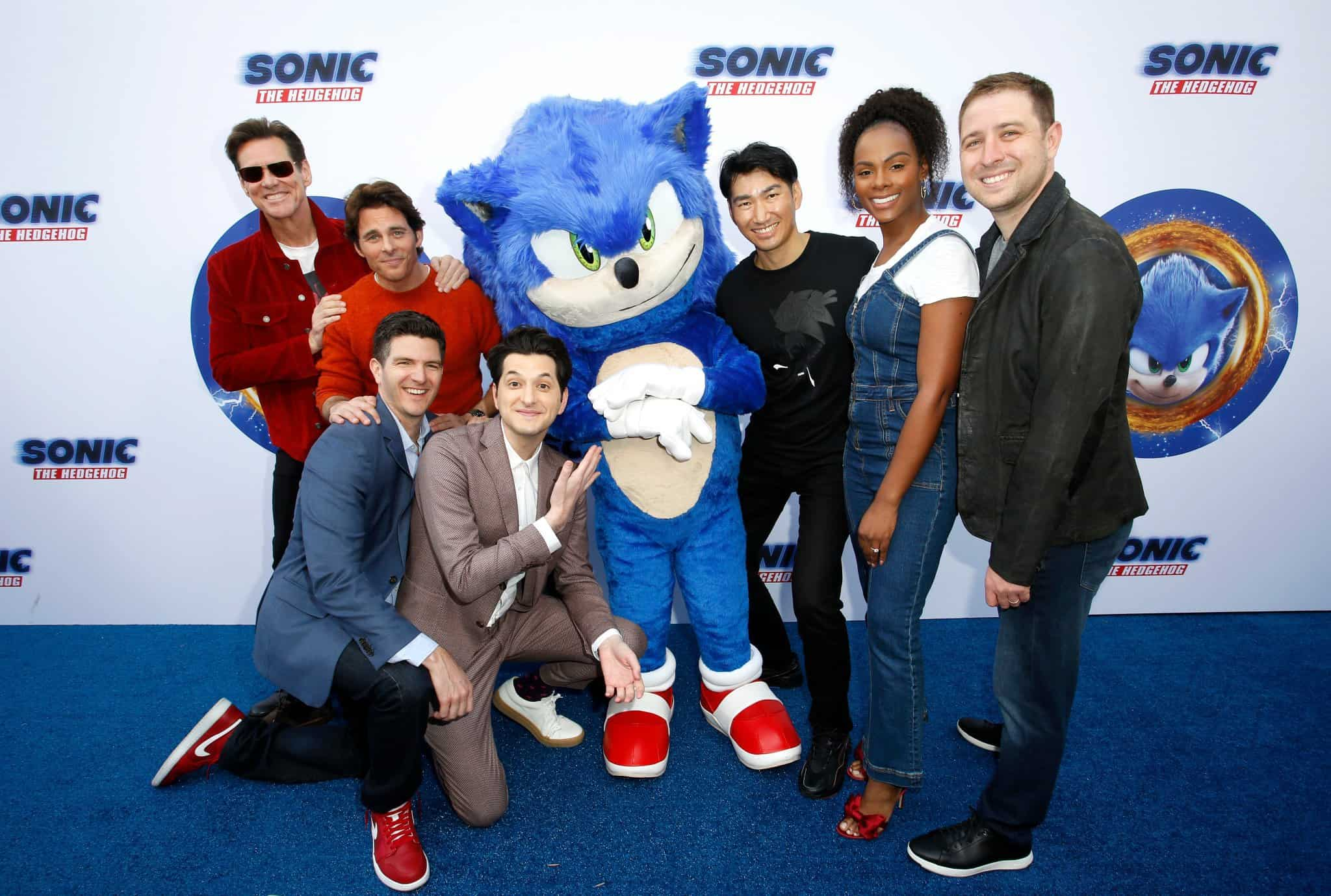 Jim Carrey James Marsden And The Cast Step Out For Sonic The Hedgehog Press Conference The Knockturnal